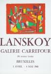 Lanskoy, André - 1968 - Galerie Carrefour Bruxelles