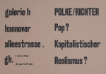 Richter, Gerhard - 1966 - Galerie h Hannover
