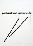 Graevenitz, Gerhard von - o.J. - Plakat vor der Schrift