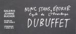 Dubuffet, Jean - 1966 - Galerie Bucher (Einladung)
