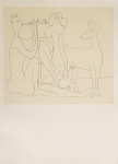 Poster: Picasso, Pablo - 1958 - (Mes dessins d'Antibes) Galerie Lucie Weill