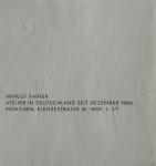 Rainer, Arnulf - 1960 - Atelier München