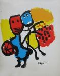 Appel, Karel - 1982 - Speise- und Einladungskarte
