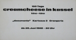 Kriwet, Ferdinand - 1968 - Creamcheese (Einladung)