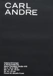 Andre, Carl - 1973 - Galerie Krinzinger Innsbruck