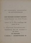 Piene, Otto - 1967 - art intermedia (Einladung)
