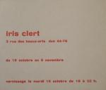 Geiger, Rupprecht - 1957 - Galerie Iris Clert (Einladung)