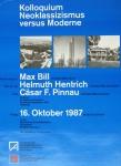 Bill, Max - 1987 - Kolloquium Neoklassizismus versus Moderne