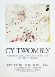 Poster: Twombly, Cy - 1993 - poster to Catalogue Raisonné of the Paintings (Empire of Flora)