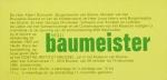 Baumeister, Willi - 1982 - Goethe-Institut Brüssel (Einladung)