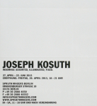 Kosuth, Joseph - 2013 - Sprüth Magers Berlin (Insomnia: Assorted, Illuminated, Fixed)