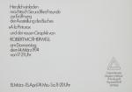 Motherwell, Robert - 1974 - Galerie Wentzel Hamburg (Einladung)