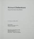 Diebenkorn, Richard - 1974 - Marlborough Galerie Zürich (Einladung)