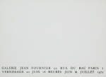 Francis, Sam - 1973 - Galerie Jean Fournier Paris (Einladung)