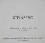 Steinberg, Saul - 1988 -  Galerie Adrien Maeght Paris (Einladung)