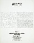 Uecker, Günther - 1975 -  Galerie Denise René Hans Mayer Düsseldorf  (Einladungen)