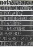 Graevenitz, Gerhard von - 1959 - nota - Studentische Zeitschrift für Bildende Kunst und Dichtung