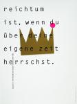 Behr, Detlef / Wambach, Germar - 1996 - Plakataktion 12 (reichtum ist wenn...)