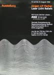 Fischer, Jürgen LIT - 1992 -  Laser Licht Reliefs (Plakat und Katalog)